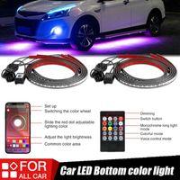 4x Auto UnderGLOW Flexibler Streifen LED Remote / App Control RGB unter Automobilchassisröhre Unterbody System Neonlicht Interiorexterner Ligh