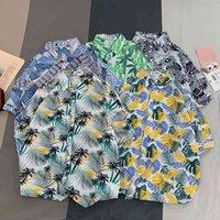 Kurzärmeliger Herren- und Damen-Strand Hawaii dünne Stil insosen loser lässiges Blumenhemd Mode