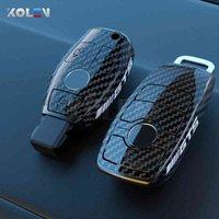 Custodia in fibra di carbonio in fibra di carbonio ABS Custodia per auto Copertura Shell Fob per Mercedes A B C E S CLASSE W204 W205 W212 W213 W176 GLC CLA AMG W177