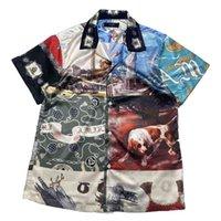 AMIR 2021SS 봄과 여름 신제품 유명 유화 유화 유명 유화 하와이 스타일 접합 짧은 소매 셔츠