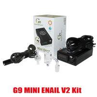 Autentico G9 Mini Enail V2 Kit FAI DA TE Elettronico Dnail Portatile DNAIL E-sigaretta Kit cera vaporizzatore di controllo del vaporizzatore Riscaldatore DABBER BOX DAB Strumento 100% Genuine