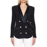 Women's Jackets Autumn Winter Est Luxury 2021 Designer Women Shawl Collar Double Breasted Metal Buttons Belt Jacket Coat Clothing