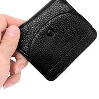 Portafoglio di cuoio Genuine Portafoglio in pelle Bifold Bifold Porta carte d'identità di credito