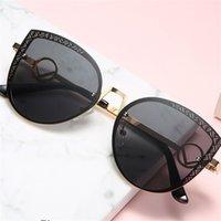 Güneş Gözlüğü 2021 Siyah Güneş Gözlükleri Shades Retro Kedi F Tasarımcı Kadın Erkek Boy Vintage UV400 Aksesuar Gözlükler (3