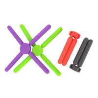 Mats & Pads 4pcs Cross-Shaped Insulation Mat Collapsible Silicone Pad Saucepan Pots Pans For Home Kitchen Dining Usage