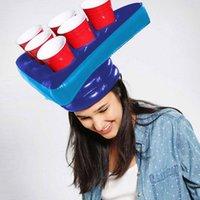 Accessoires de piscine Gonflable Beer Pong Chapeau Jeu De Sports nautiques Tête Natation Jouets Pour Adulte Enfants