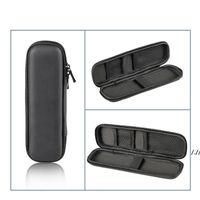 Black Pen Case Portable EVA Hard Shell Pen Holder Office Stationery Case Pouch Earphone Makeup Storage Bag DWC7147