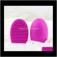 High Quality Other Household Sundries Egg Cleaning Glove Makeup Washing Brush Scrubber Board Cosmetic Brushegg Clean Tool Hhe5838 Vbc0 Z0Wap