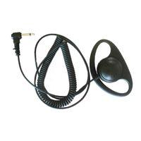 D Forma Forma Ear-Hook Receber Ouvir apenas fone de ouvido fone de ouvido microfone para motorola dois way rádio walkie talkie ht750 ht1250 bpr40 cp110 cp150 cp200