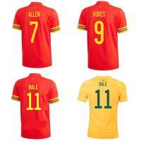Üst 20 21 Galler Futbol Formaları Allen Balya Futbol Gömlek 2020 2021 Galce Ramsey Jersey James Maillot De Ayak