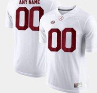 Profissional Custom Jerseys NCAA Alabama Carmesim Maré Jersey 2 4 6 8 9 10 12 13 17 21 22 24 44 82 87 Logotipo qualquer número e nome Todas as cores Mens Football Shirts A2
