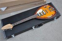Kostenlose Lieferung Hutchin E-Gitarre, Halbhohlgitarre, Sunburst Tremolo, Wassertröpfchenform, minstral vx Gitarre, Palisander Einstieg mit Hardcase