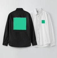 편지가있는 클래식 망 디자이너 셔츠 남성을위한 봄 가을 긴 소매 티셔츠 여성 티 탑 패션 자켓 캐주얼 의류