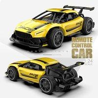 RC Cars Radio Control 2.4G 4CH Гоночные игрушки для детей 124 Высокоскоростной электрический мини RC дрейф вождения автомобиля