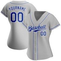 95 Custom Women Grey Baseball Jersey 1