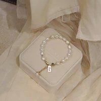 Baroque Fresh Water Pearl Armband Dames Design Onverferentie Windnet Rood 14k Speciale gevormde kralen Armband Gift