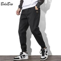 Men's Pants BOLUBAO Autumn Cargo Men Trendy Cotton Solid Color Japanese Overalls Techwear Streetwear Loose