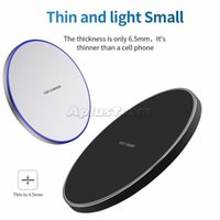 Fast Wireless Quick Charger High Quality QI 10W Power Charging Smooth Metal Pad With LED Light For Iphone 11 12 XR Samsung S20 S21 Htc