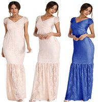 Lace maternity gown Fitted Mermaid Style Lining Maternity Slim Fit Baby Shower Dress Maternity Photo Props Wedding gown