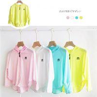 Summer Girls Sun-protective Jacket Ice Silk Anti-UV Breathable Sun-proof Hoodie Rashguard Baby Girl Outdoor Coat Clothing