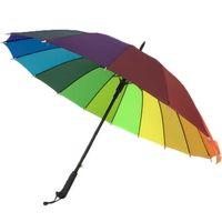 Creative Home Sundries Long Handle Arco-íris Multi-funcional Durável Durável Guarda-chuva Semi-automático Atacado
