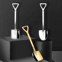 Spoons Tableware Spoon Scoop Shovel Coffee Stainless Steel Ice Cream Creative Bar Dessert Ktchen Tools