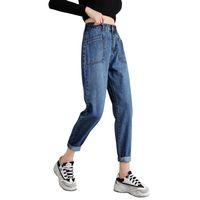 Jeans noir taille haute Denim Harem Pants Boyfriend pour femme Pantalon en vrac Vaqueros Mujer 319 Femmes