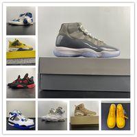 Chaussures de basketball 4 1 11 11 Cool Grey Noir 6S Blanc 2021 Formateurs Hommes Sneakers Sports Sneakers Top Qualité avec boîte Taille 4-13