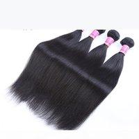 AIS Saç Brezilyalı Virgin İnsan Saç Uzantıları Örgüleri 4 Demetleri Düz Doğal 1B Renk 8-30 inç Hint Perulu Malezya Saç