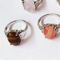 Moda 30 pezzi / lotto Rainbow Pietra Anello Mish Style Disegni Donne Regalo di gioielli anello in pietra naturale 635 Q2