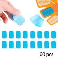 60 Adet Kas Karın Egzersiz Kemer Makinesi Sticker Stimülatörü Jel Çıkartmalar Yedek Hidrojel Karın Jel Pedleri