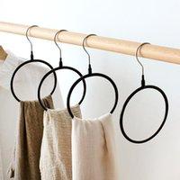 Pantalla de círculo de bufanda de metal bufandas bufandas correas titular anillo inicio armario organizador almacenamiento estante para medias colgantes ganchos de toalla