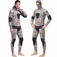 Sbart Men 5mm Traje de buceo Neopreno Freediving Spearfishing Wetsuit Snorkel Swimsuit Split Traje dividido Sombrero Combinaison Surf Surf Swim Wear