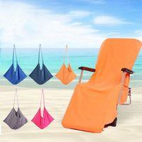 해변 의자 커버 5 색 라운지 의자 담요 스트랩 수건으로 휴대용 이중층 두꺼운 담요 WLL656