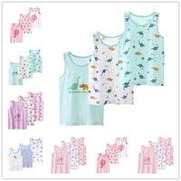 Vidmid Bebek Çocuk Yelek Yaz Kız Tankları T-shirt Pamuk Tankı Kolsuz Çocuklar Erkek Karikatür Plaj Giysileri 7010 16 Y0914