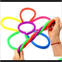 Novelty Items Décor Home & Gardennovelty Environmental Decompression Rope Fidget Abreact Flexible Glue Noodle Ropes Stretchy String Neon Sli