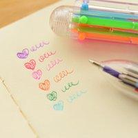 Paint Pens 6 عبوة الكرة نقطة القرطاسية الكورية الجميلة الطلاب الإبداعية مع متعدد الألوان الصغيرة FRH النفط حساب القلم