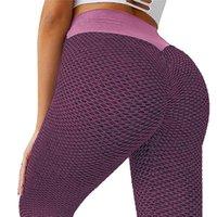 Women's Leggings 2021 Sexy Push Up Bubble Mesh Women Fitness Sport Plus Size Gym Running High Waist Full Length Active Pants