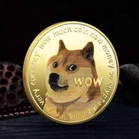 2021 ZB64 Collectable Other Fashion Accessories Double-sided Metal Paint Badge Customized Dog Commemorative Coin Dogecoin Medal Foreign Trade Collection Gift