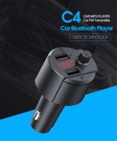 سيارة الصوت اللاسلكية بلوتوث مشغل mp3 الموسيقى استقبال محول يدوي كيت FM الارسال شاحن USB
