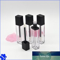 7Ml Empty Lip Gloss Tubes Square Flat Type Packaging Bottle Clear Lipgloss Containers Plastic With Blcak Cap Beauty Tools 1 7lk B2