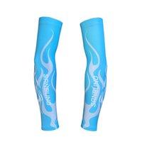 Coude genou coussinets bleu été extérieur pêche à criseaux de protection solaire à la corbeille de bicyclettes de bicyclettes à vélo à l'épreuve des rayons ultraviole d'hommes