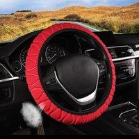 Cubiertas de volantes Automóvil Universal Four Seasons Cover Soft Multicolor sin anillo interior Banda Elástica Grip Auto Parts