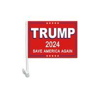 Salva di nuovo American Trump Bandiera di auto 30x45cm, 100D Polyester One Strate, Stampa laterale singola con 80% Bleed