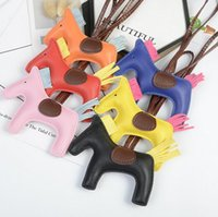 Horse Cartoon Design Simulated Animal Key Chain Brand Designer Bag Backpack Print KeyRing Charm Cartoon Pattern Car Keychain Phone Pendant Hanging Ornament
