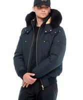 mens Little Rapids Bomber Jacket winter down Parkas hooded with fox fur collar canada knucke Doudoune