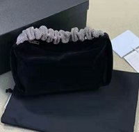 2021 Atualizado Veludo Diamante Punho Sacos Top Designer Mulheres Luxo Checo Strass Bag de Embreagem Bottura Carta Impressão Banquete Bolsas De Banquete Party Bolsa De Casamento de Bolsa