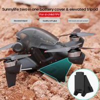 2-In-1 For DJI FPV Drone Silicone Battery Protector Cover Height Extender Landing Gear Combo Accessories Tripods