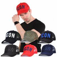 2021 بيع أيقونة رجل مصمم القبعات casquette d2 الفاخرة التطريز كاب قابل للتعديل 7 لون قبعة وراء حرف D5Q6 #