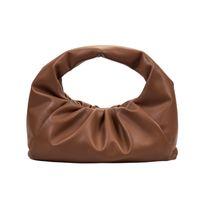 2021 Summer Cloud Bag Women's Cross body head layer cowhide chain Fashion Dumpling Waist Bag